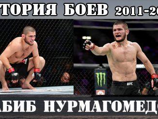 История боев Хабиб НУРМАГОМЕДОВ 2011-2019 года